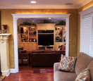 interior texture painted walls with trim