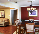 dining area painted walls and interior trim