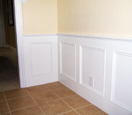 custom interior wall molding with square pattern